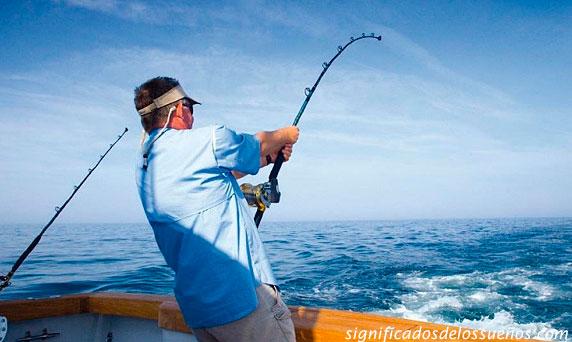 soñar que estas pescando un pez