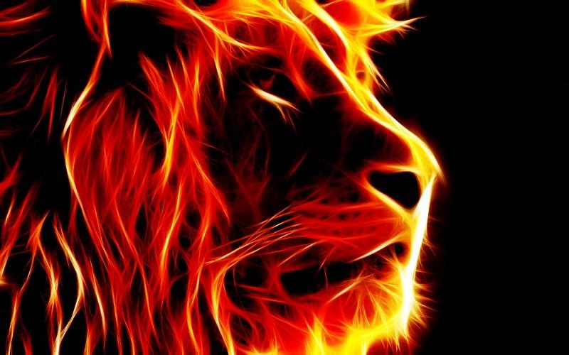 soñar con un leon en fuego