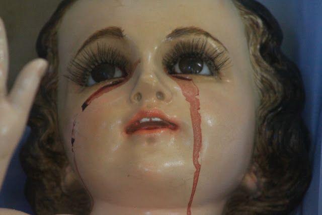 niño jesus llorando sangre