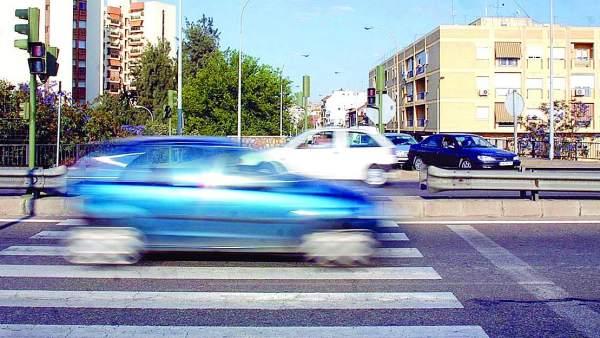 auto a gran velocidad