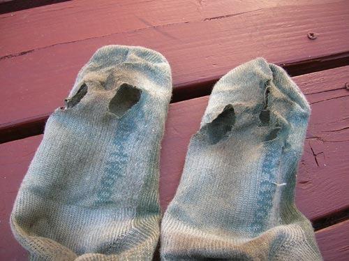 calcetines rotos imagen