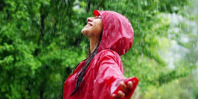 Soñar con mojarse en la Lluvia