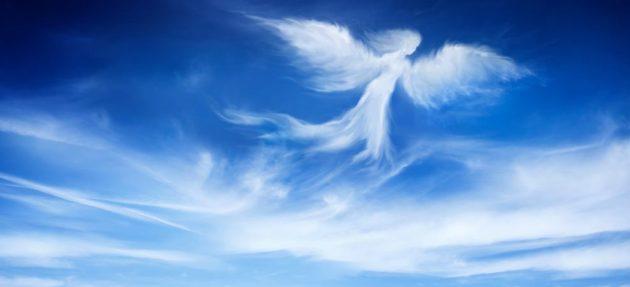 soñar con ángeles luminosos