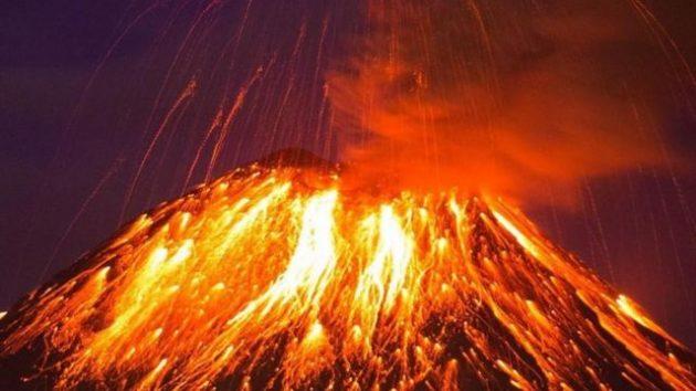soñar con volcan en erupcion