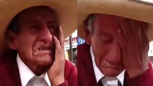 viejito llorando