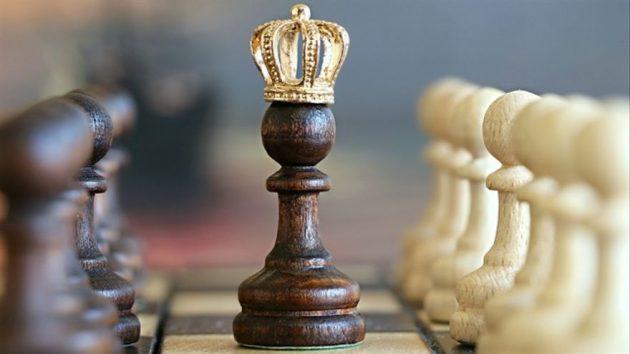 reina y rey de ajedrez